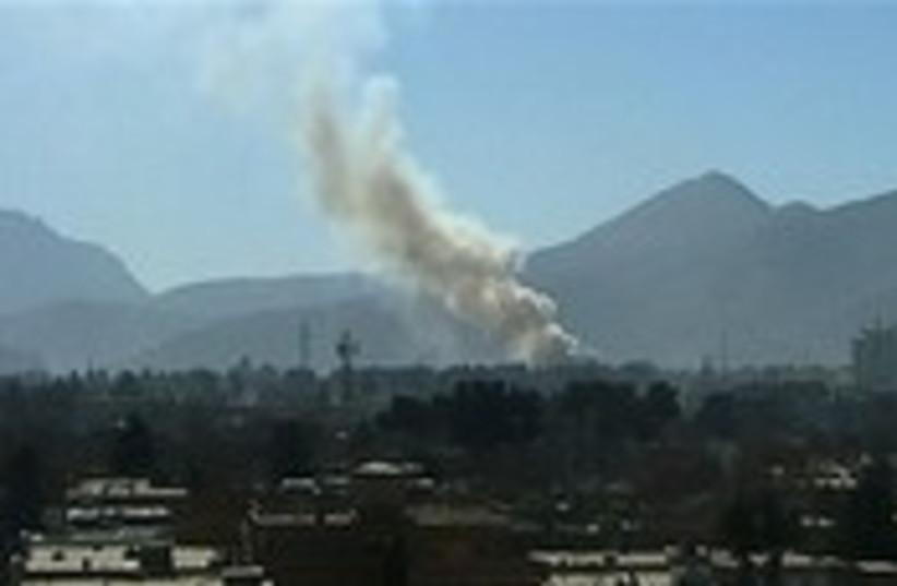 Smoke rise over Kabul Monday, after explosions rocked. (photo credit: AP)