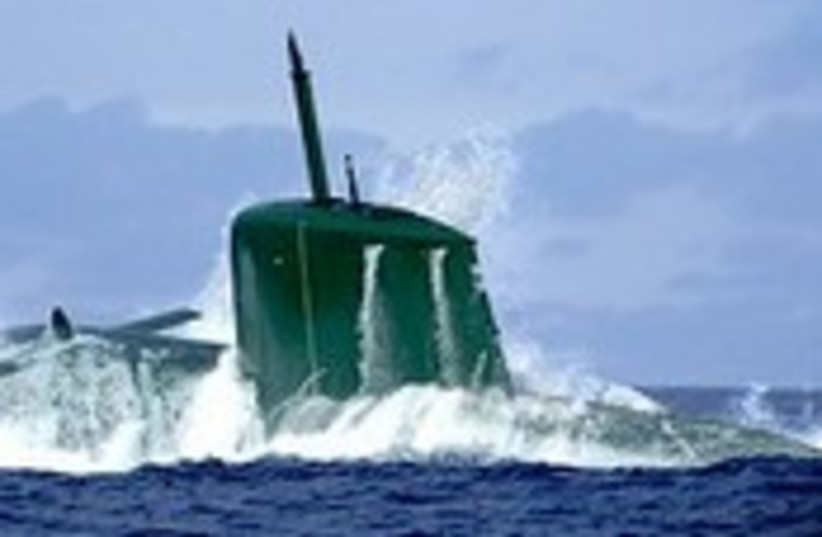 The Dolphin Submarine. (photo credit: IDF)