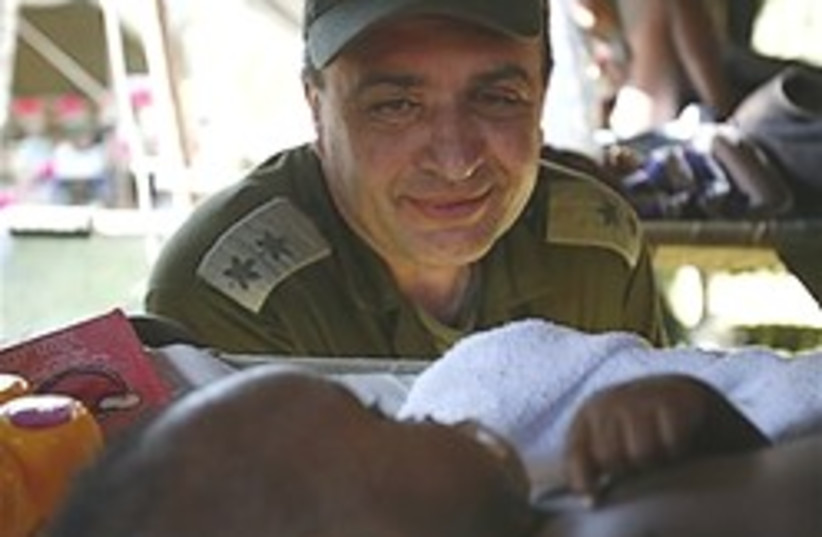 IDF rescue Haiti baby berman (photo credit: AP)