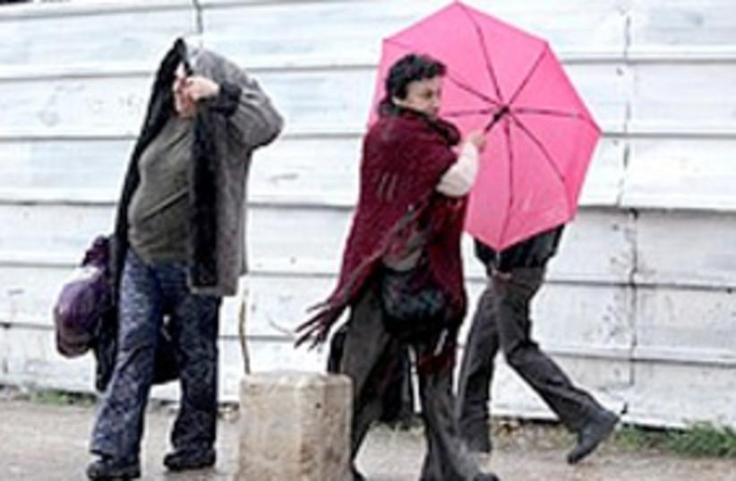 rain in jlem 311 (photo credit: Ariel Jerozolimski)