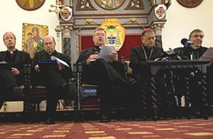 Bishops Jlem (photo credit: AP)