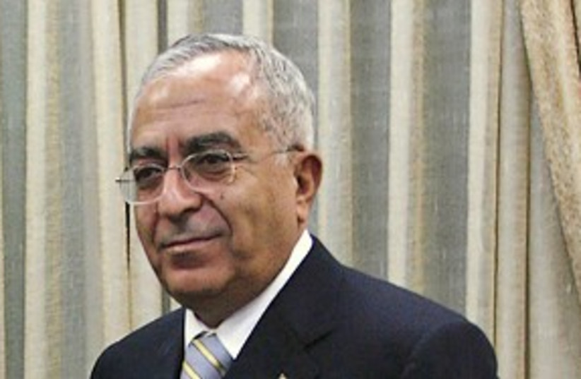 Palestinian Authority Prime Minister Salam Fayyad (photo credit: AP)