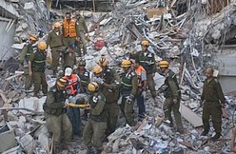 Hait rubble  (photo credit: AP)