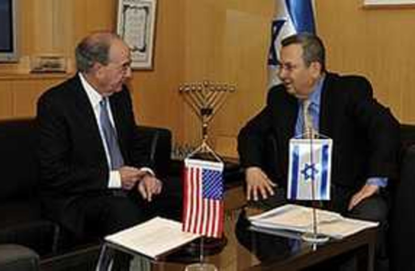 Barak meets with Mitchell in Tel Aviv, Thursday. (photo credit: Defense Ministry)