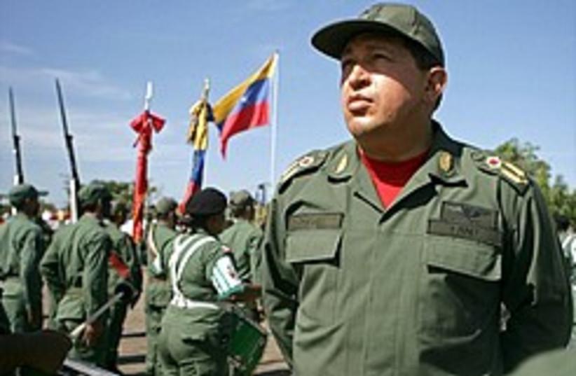 Chavez dictator  (photo credit: AP)