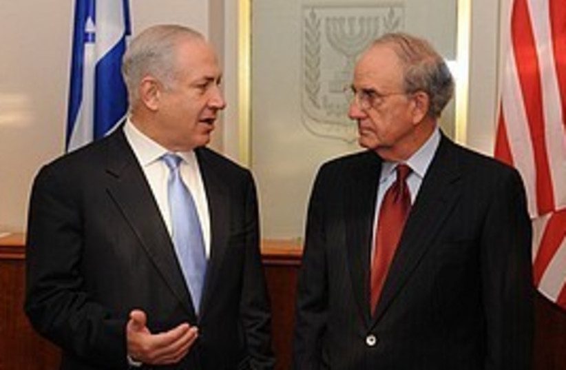Netanyahu Mitchell  (photo credit: GPO)