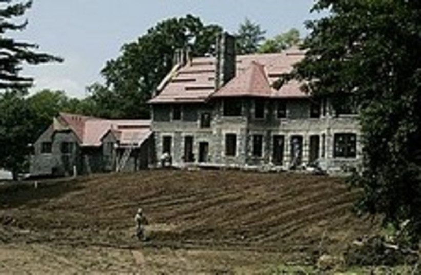The Englewood, N.J. mansion where Gadhafi sought to stay. (photo credit: AP)