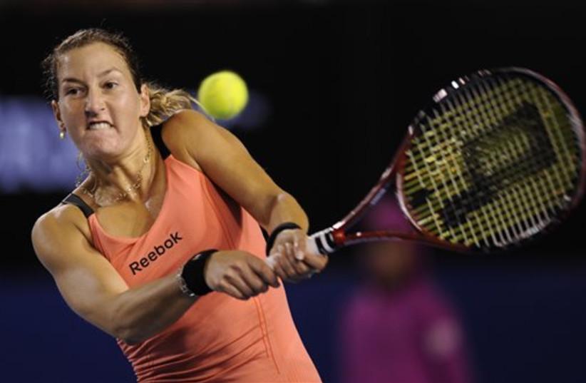 Shahar Peer at Australian Open (photo credit: AP Photo/Mark Baker)