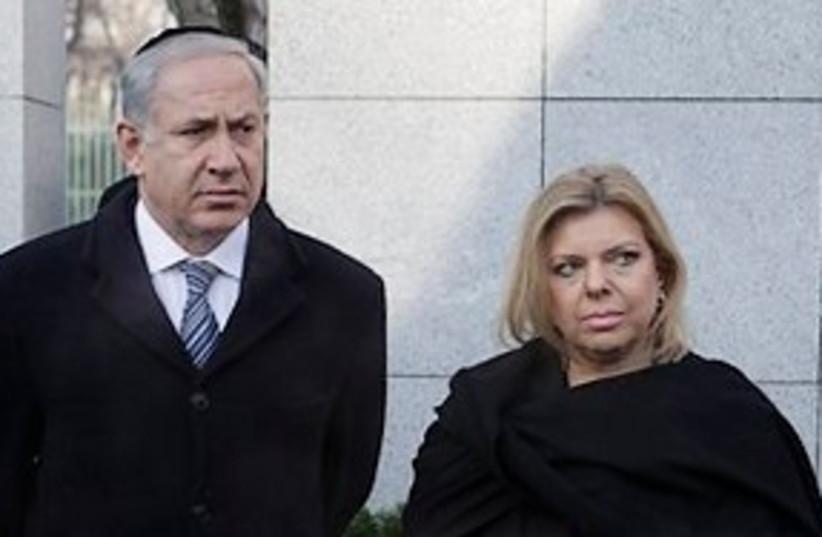 netanyahu and sara in poland holocaust 311 ap (photo credit: AP)