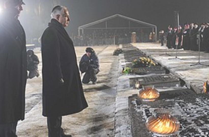 Netanyahu at Auschwitz  (photo credit: GPO)
