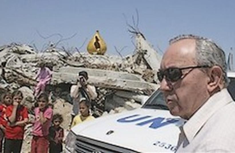 Goldstone in Gaza (photo credit: AP)