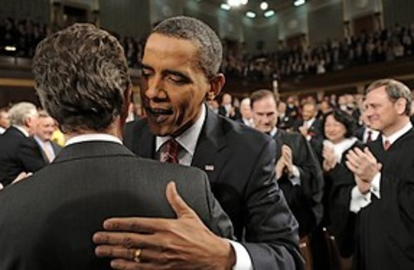 obama at state of the union (photo credit: AP)