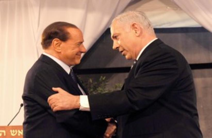 Netanyahu Berlusconi 311 (photo credit: GPO)