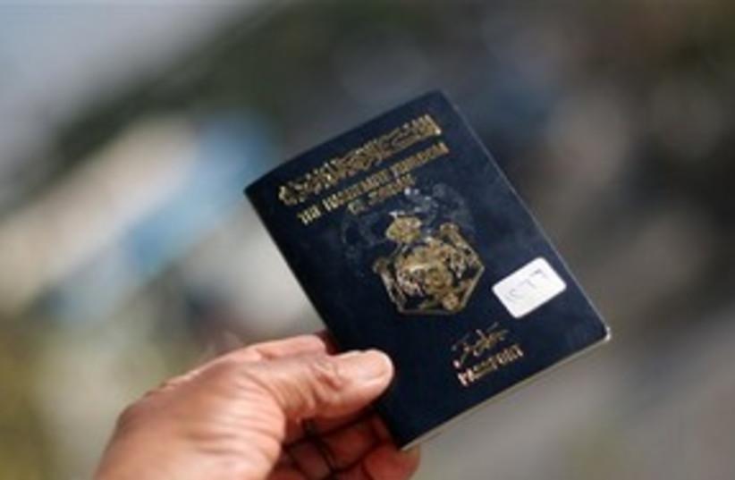 Jordanian passport (photo credit: AP)