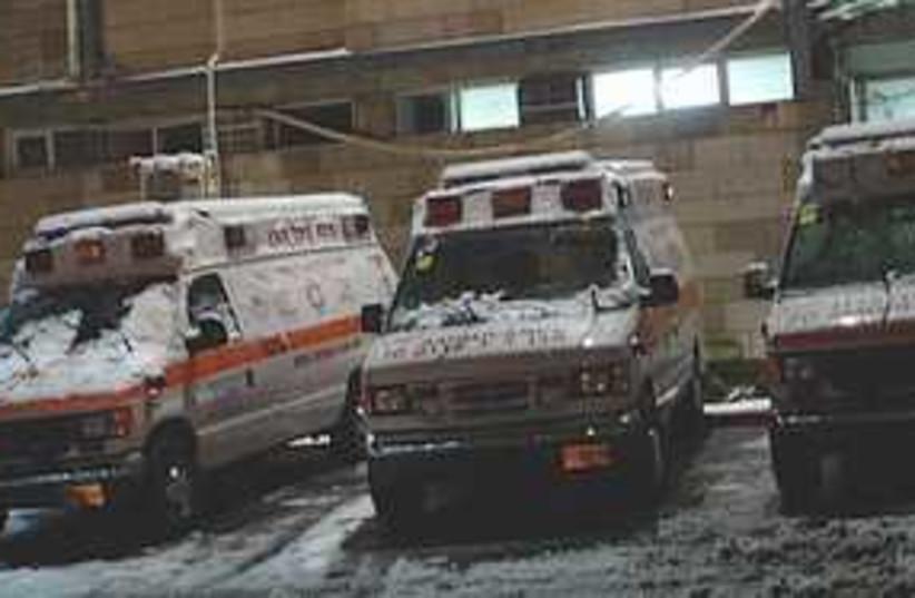 MDA ambulance snow 311 (photo credit: MDA)