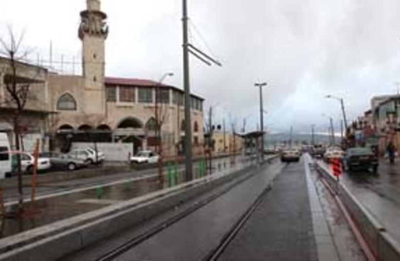 light rail winter 311 (photo credit: Ariel Jerozolimski)