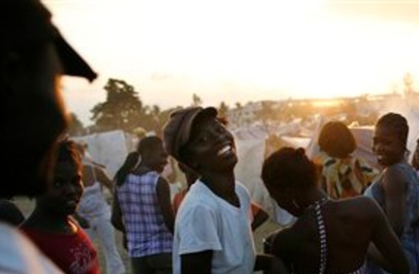 Haitian refugees (photo credit: ASSOCIATED PRESS)