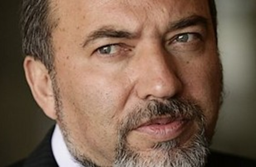 lieberman threatening 311 (photo credit: AP)