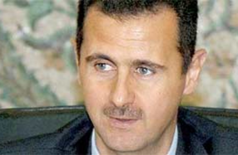 bashar assad 311 (photo credit: AP)