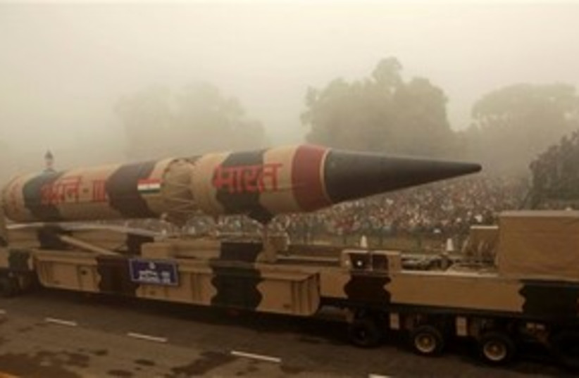 Indian missile (photo credit: Associated Press)