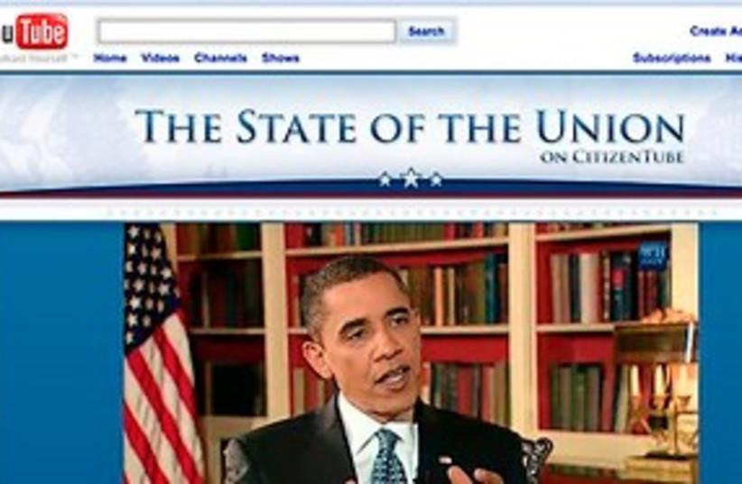 Obama on You Tube 311 ap (photo credit: AP)