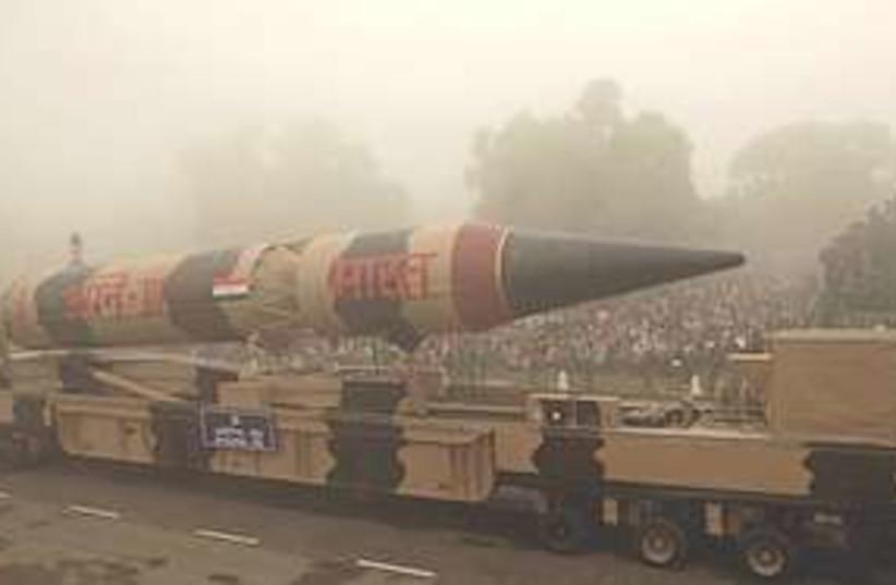 Agni III missile  (photo credit: Associated Press)