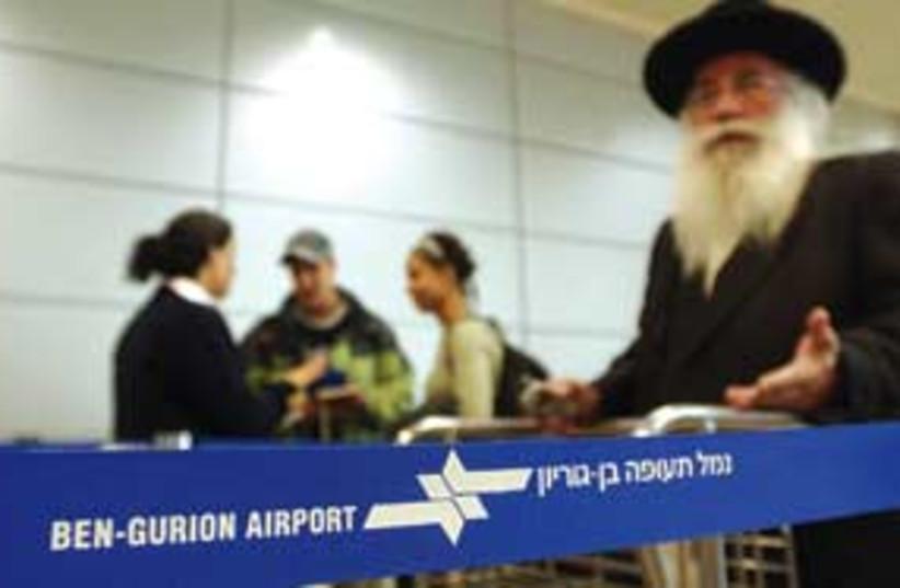 religious guy at airport 311 ariel (photo credit: Ariel Jerozolimski)