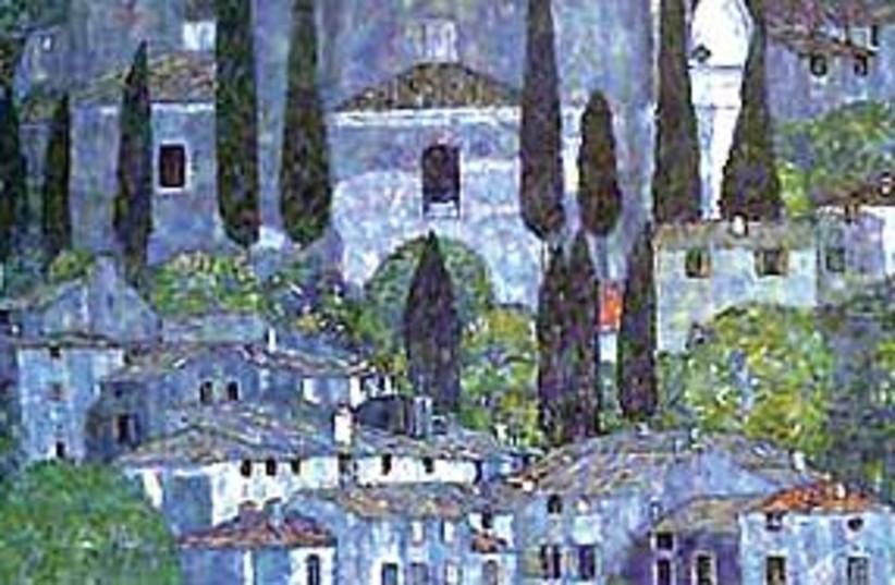 Gustav Klimt's Church in Cassone (photo credit: .)