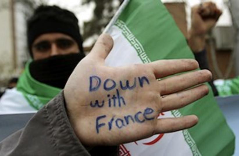teheran france protest 311 (photo credit: AP)