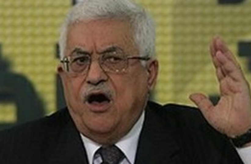 abbas pointing finger 311 ap (photo credit: AP [file])