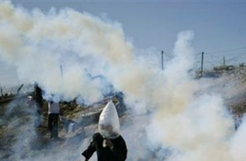 Palestinian Protester (photo credit: ASSOCIATED PRESS)