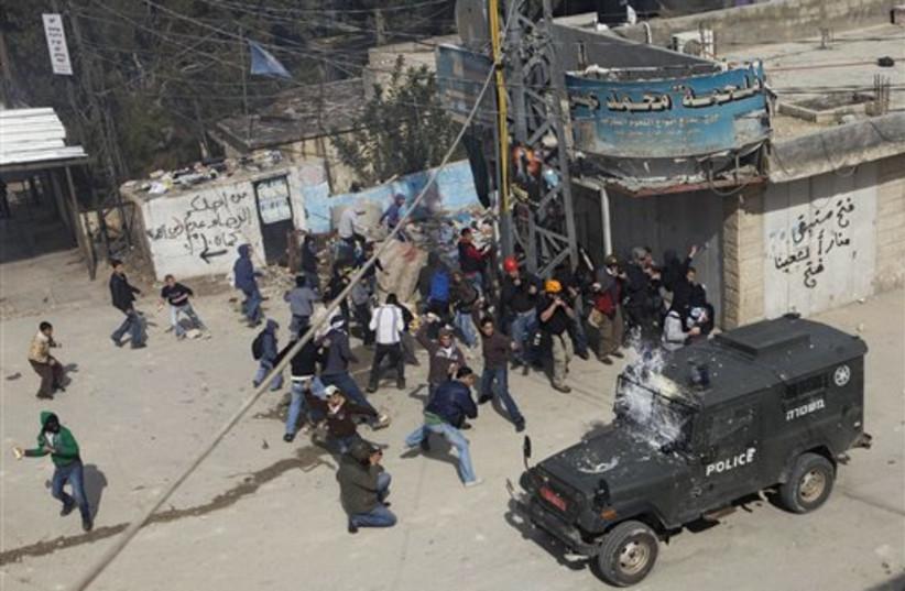 Shuafat riot (photo credit: AP)