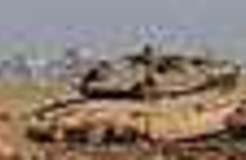 IDF tanks near Gaza 58 (photo credit: Associated Press)