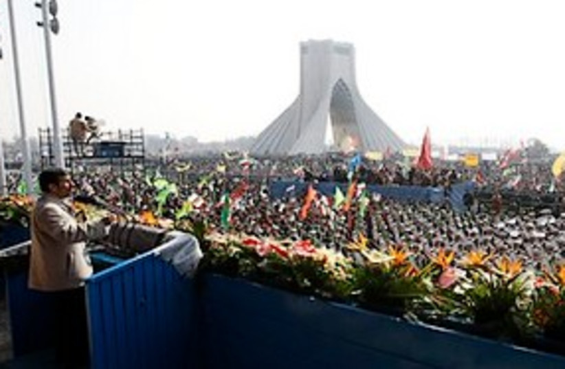 ahmadinejad speaks to the masses great 311 ap (photo credit: AP)
