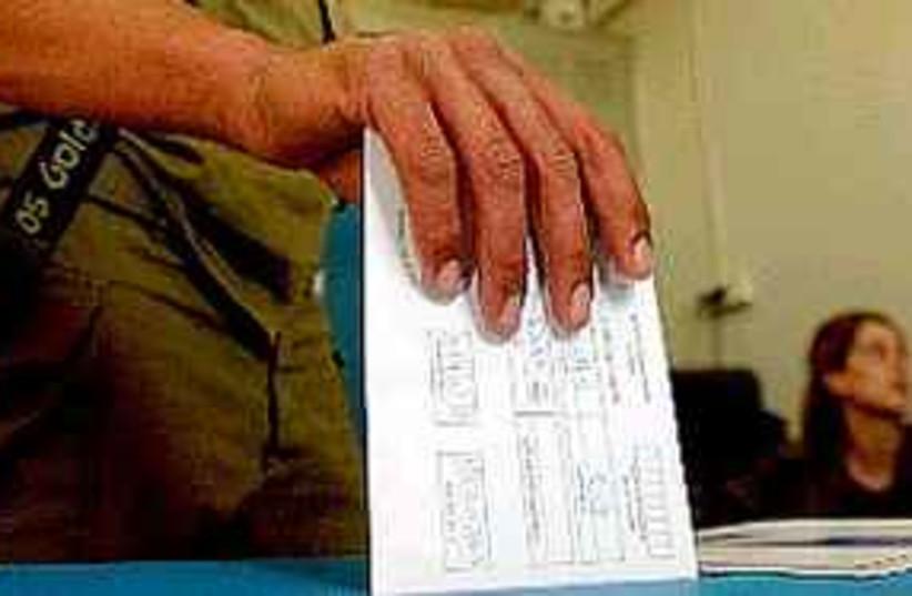Israelis vote  (photo credit: Ariel Jerozolimski )