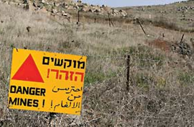 Golan Mines (photo credit: Ariel Jerozolimski)