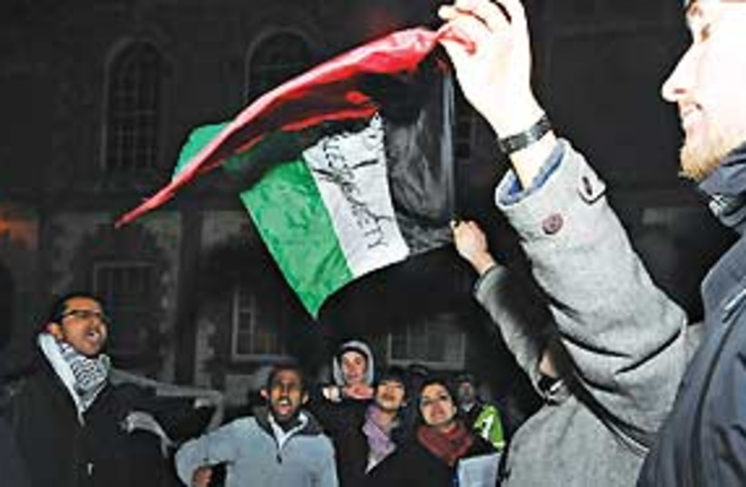 Oxford students protest Ayalon 311 (photo credit: .)