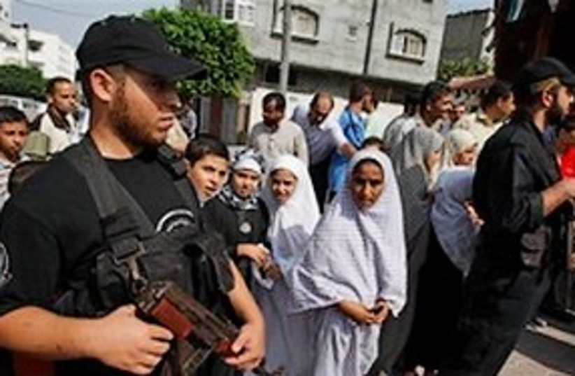 Hamas bodyguards 311 (photo credit: ASSOCIATED PRESS)