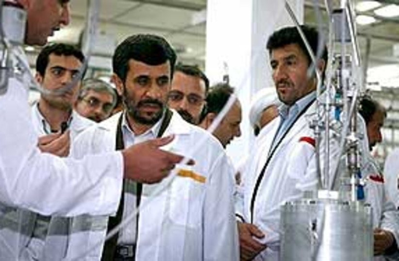 Ahmadinejad visits Natanz 311 (photo credit: Associated Press)
