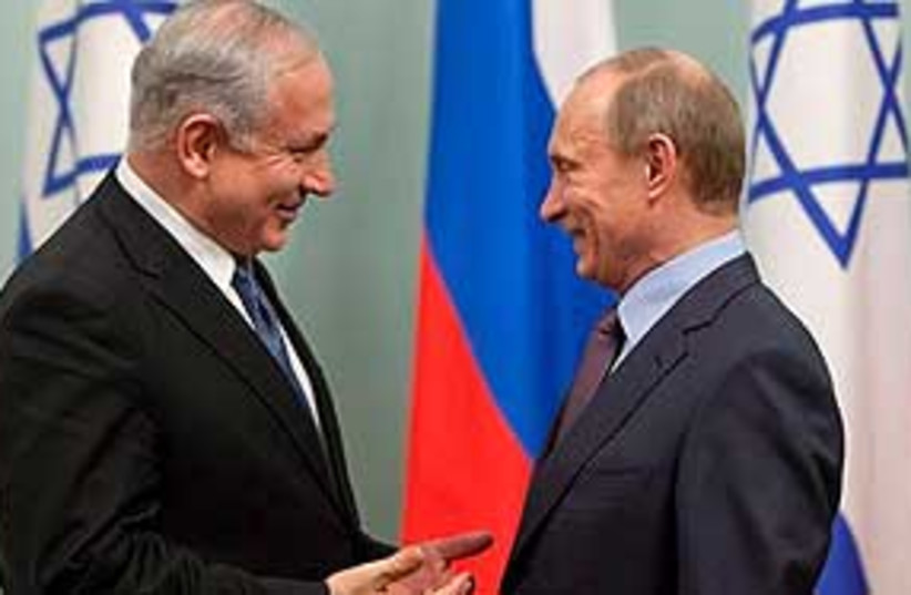 Netanyahu Putin Moscow 311 (photo credit: Associated Press)