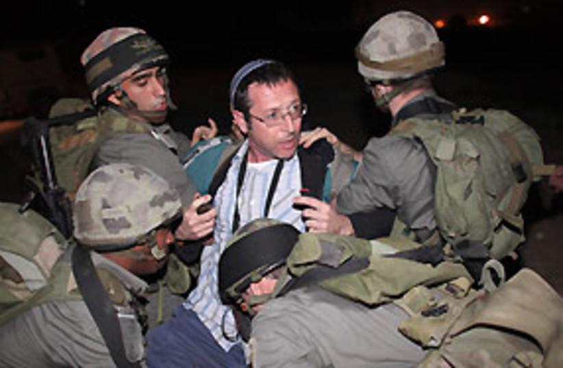 jericho settler soldier arrest 311 (photo credit: AP)