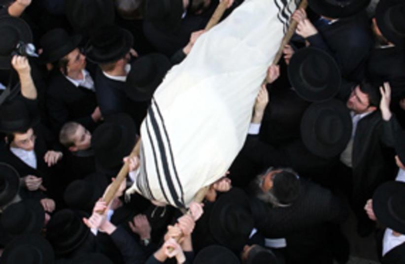 porush funeral 311 (photo credit: Ariel Jerozolimski)
