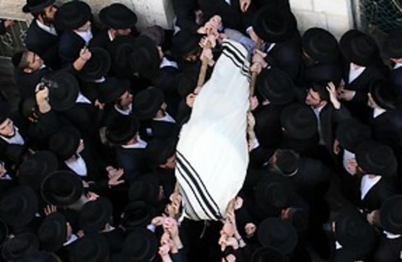 porush funeral 311 (photo credit: Ariel Jerozolimski )