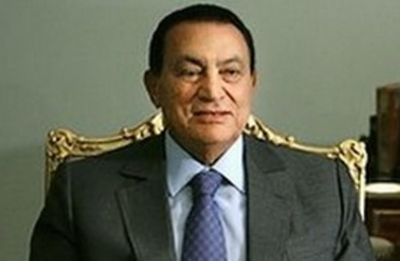 Egyptian President Hosni Mubarak. AP 311 (photo credit: ASSOCIATED PRESS)