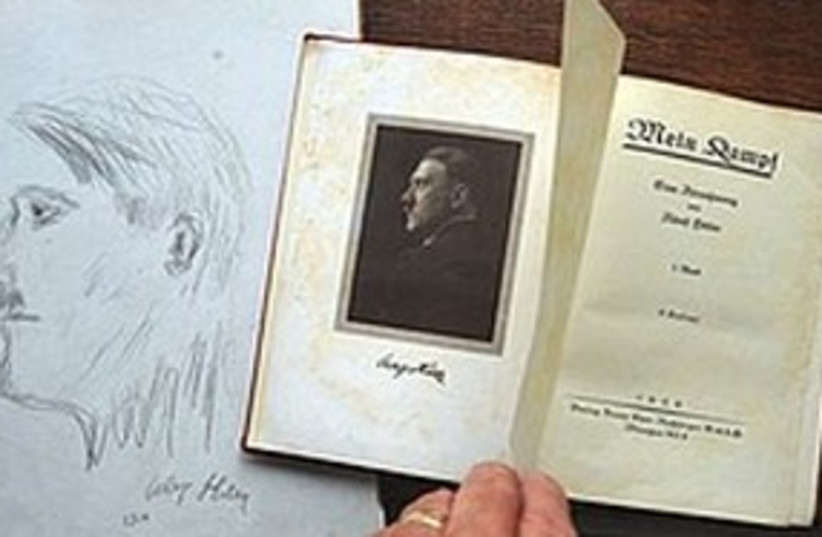 Mein Kampf signed by Adolf Hitler 311 AP (photo credit: ASSOCIATED PRESS)