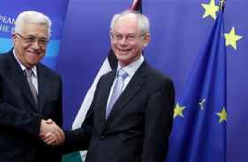 abbas with European Council President Herman Van Rompuy 311 (photo credit: AP)
