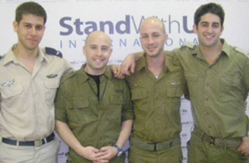 IDF soldiers stand with us tour cast lead 311 (photo credit: Stand With Us)