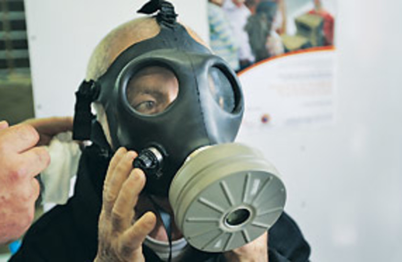 gas mask 311 (photo credit: AP)