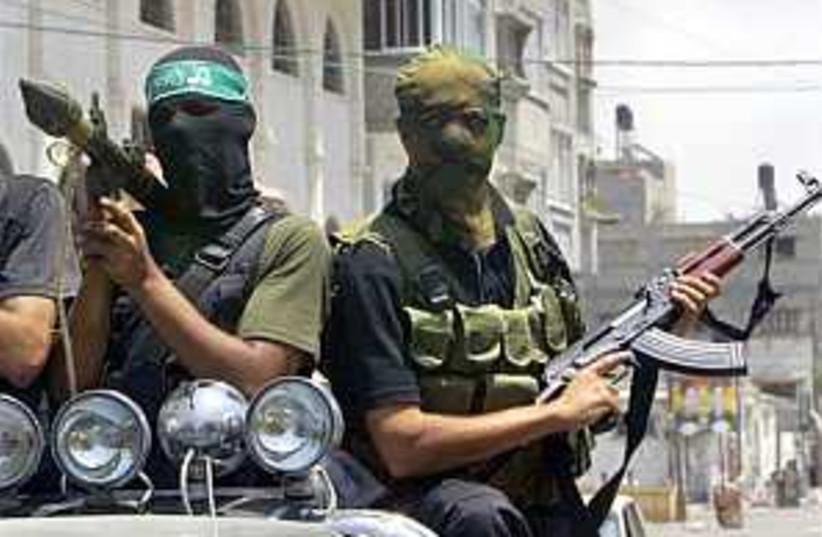 Hamas gunmen 298.8 (photo credit: AP [file])