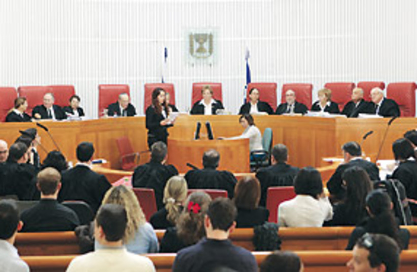 high court panel citizenship law 311 (photo credit: Ariel Jerozolimski)